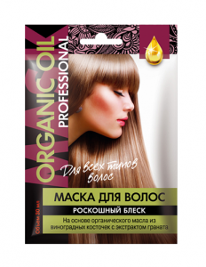 Org. maska do wł. «ORGANIC OIL Professional» piękny blask FIT